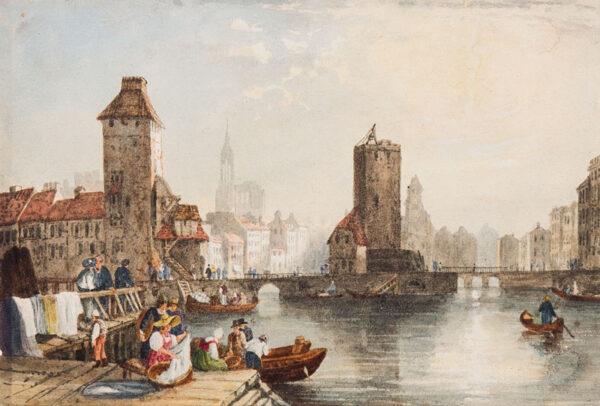 CROUCH William (1800-1850) - Capriccio townscape.