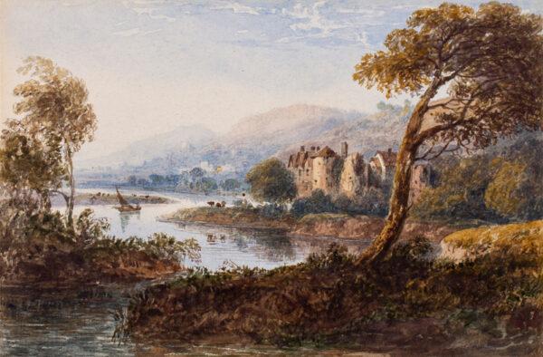 CROUCH William (1800-1850) - Capriccio landscape.