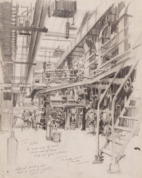 CUNEO Terence (1907-1996) - The printing works of the Odham Press (closed 1969).