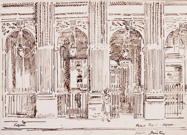 DAINTRY Adrian (1902-1988) - 'Le Grand Vefour', Palais Royal, Paris.