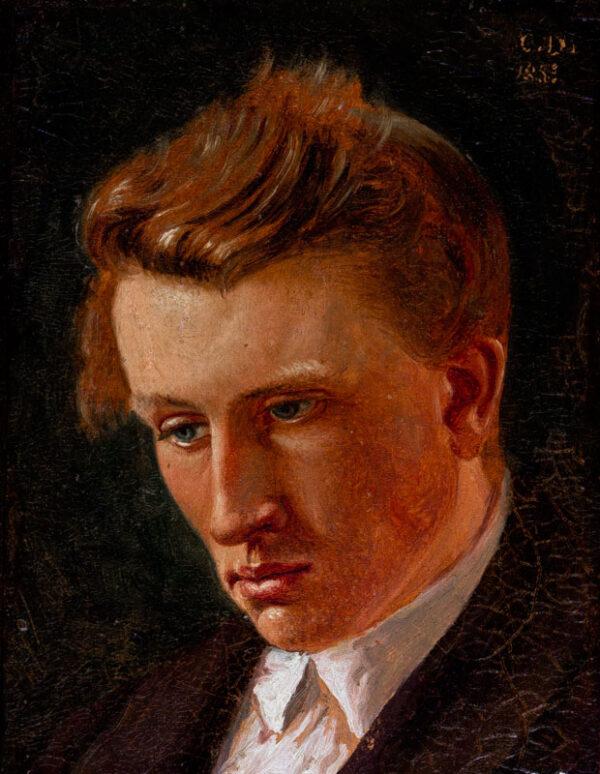 DALSGAARD Christen (Danish, 1824-1907) - 'Portrat af Kaust(…) Brader'.
