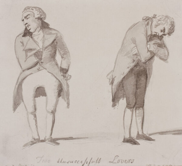 DANCE-HOLLAND Sir Nathaniel R.A. (1734-1811) - 'Two Unsuccessful (sic) Lovers'.