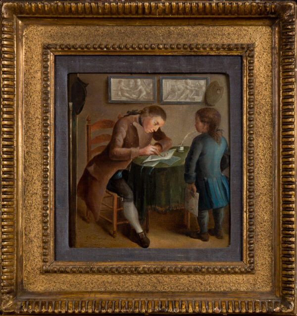 DANCE George R.A. (1741-1825) - 'Artist and pupil'.