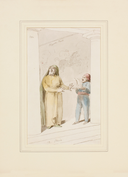 DANCE Nathaniel (1735-1811) - 'The Stoic'; a grim fellow rejecting everything nice.