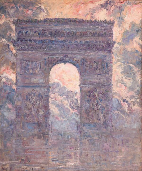 DAVENPORT William Slocum (1868-1938) - 'L'Arc de Triomphe' Oil on canvas.