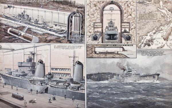 DAVIS George Horace (1881-1960) - Swedish subterranean Dock.