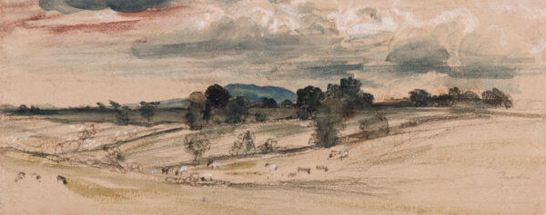 DE WINT Peter O.W.S. (1784-1849) - Leicestershire (or Somerset) 'Bardon'.