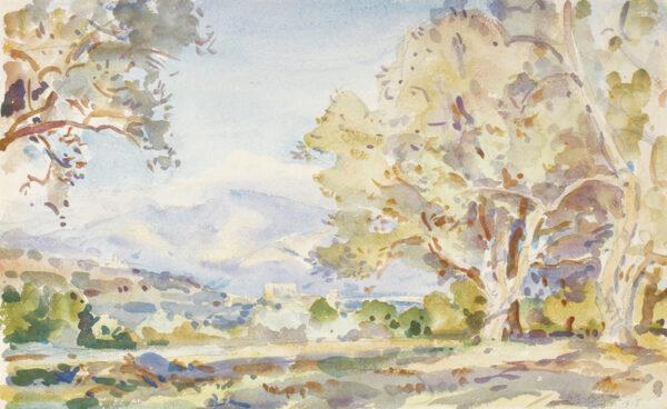 DE GLEHN Wilfred R.A. N.E.A.C. (1870-1951) - Landscape above Cannes.