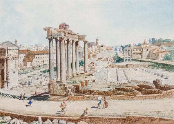 DE GROSSI Adelchi (1852-1892) - Rome: The Forum.