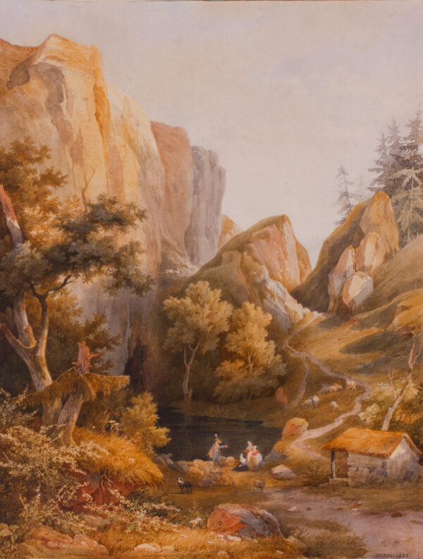 DUROY Isidore Laurent (1797-1886) - 'In the Vosges'.