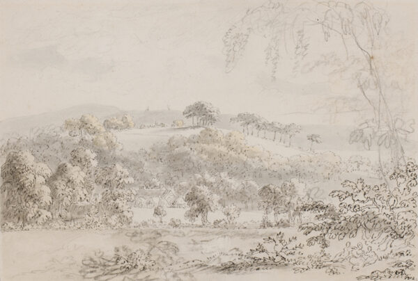 DEVIS Anthony (1729-1817) - 'Albury Park farm from the edge of Mr G wood', Surrey.