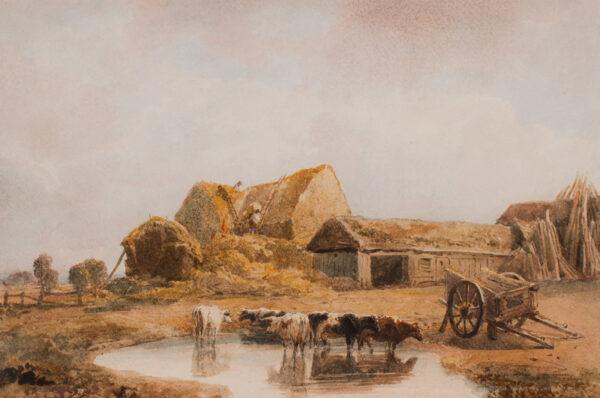DE WINT Peter O.W.S. (1784-1849) - A stock yard.