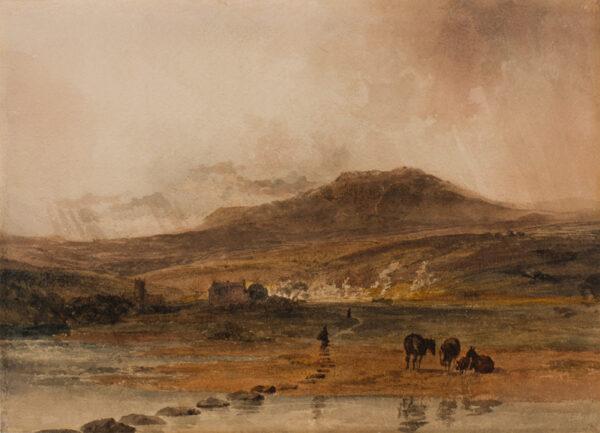 DE WINT Peter O.W.S. (1784-1849) - Moorland landscape.