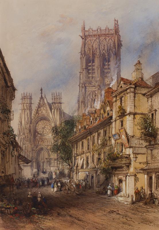 DIBDIN Thomas Colman (1810-1893) - 'St Jacques, Dieppe'.