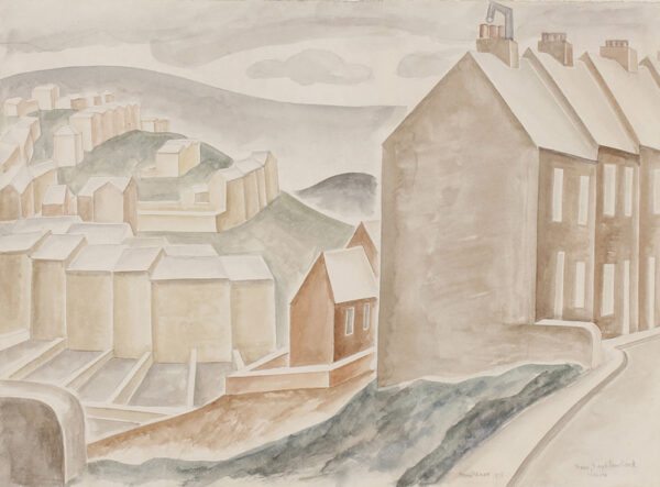 DISMORR Jessica (1885-1939) - 'New Neighbourhood, Lewes'.