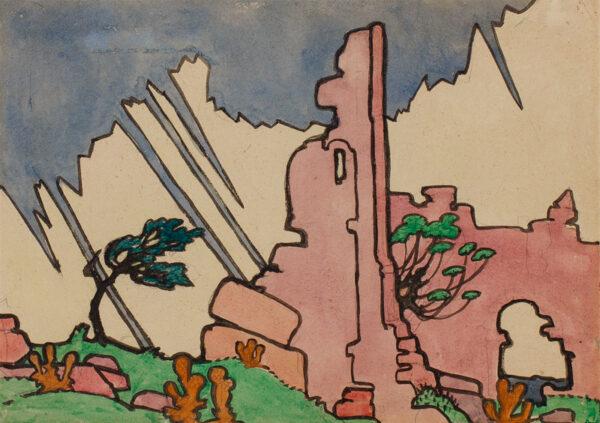 DISMORR Jessica (1885-1939) - Ruins, Les Baux.
