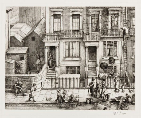 DIXON Frederick Clifford (1902-1992) - A London Street; Cathcart Road, South Kensington.