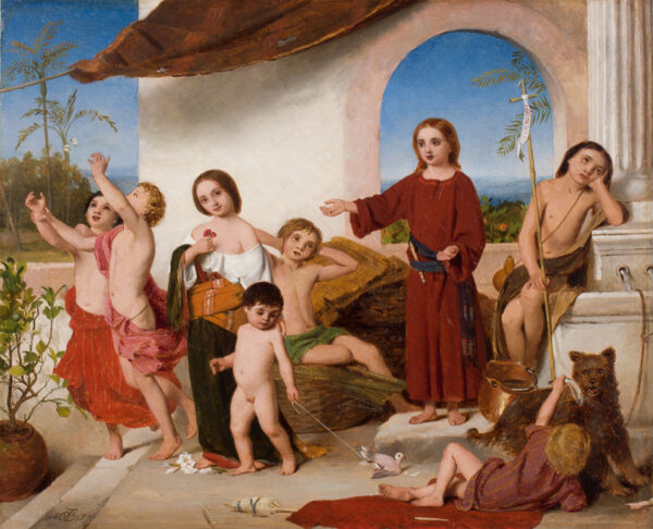 DOBSON William Charles Thomas R.A. R.W.S. (1817-1898) - The Childhood of Christ.