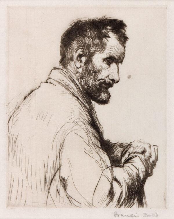 DODD Francis R.A. (1874-1949) - A thoughful man.