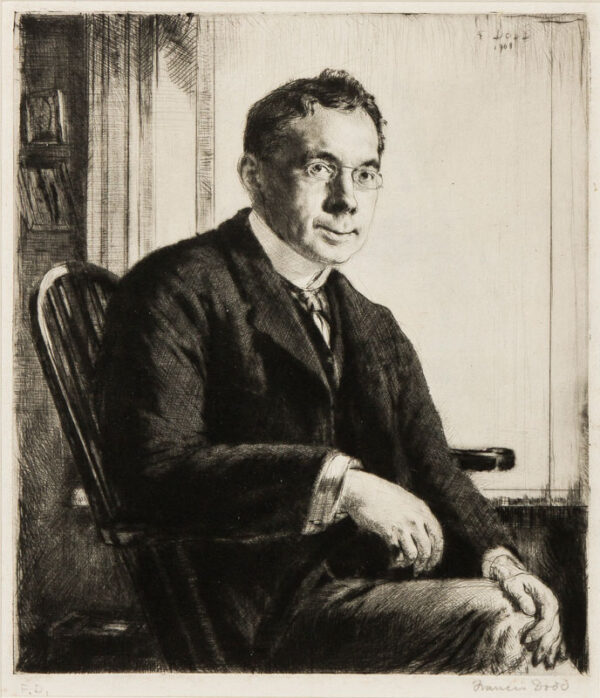 DODD Francis R.A. (1874-1949) - Campbell Dodgson (1867-1948) Etching.