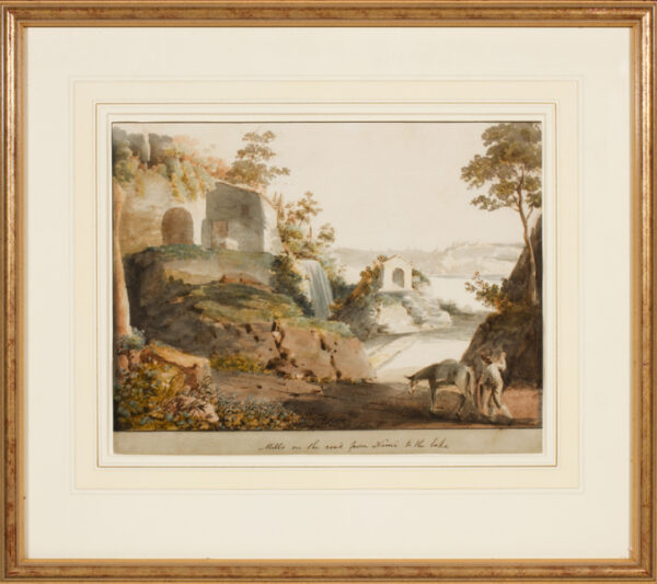 DODWELL Edward (1767-1832) - 'Mills on the road from Nemi to the lake'.