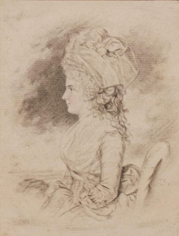 DOWNMAN John A.R.A. (1750-1824) - Portrait of a lady.