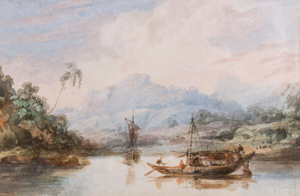 D'OYLY Sir Charles (1781-1845) - 'Country boats'.