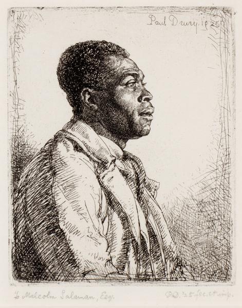 DRURY Paul R.E. (1903-1987) - 'Head of a Negro' (RG15) Etching.