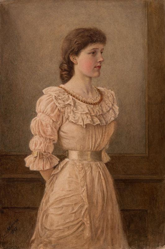 DU MAURIER George Du (1834-1896) - The artist's eldest daughter Beatrix (1864-1913) Watercolour.