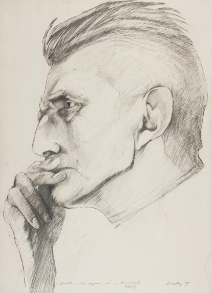 DUBSKY Mario (1939-1985) - 'Samuel Beckett'.