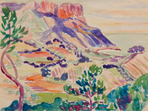 DUVAL Beatrice (1880-1973) - 'Cap Canaille' from Cassis.