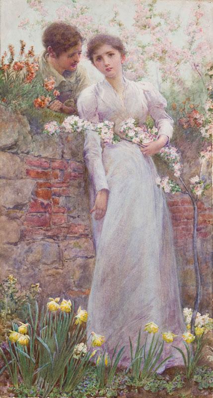 EMSLIE Albert Edward (1848-1918) - 'Awakening'.