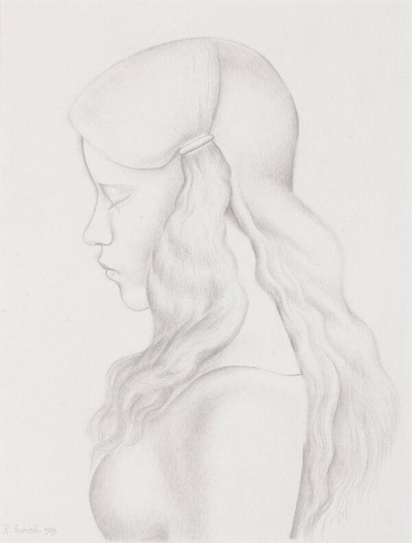 EURICH Richard R.A. N.E.A.C. (1903-1992) - Head of a Girl.
