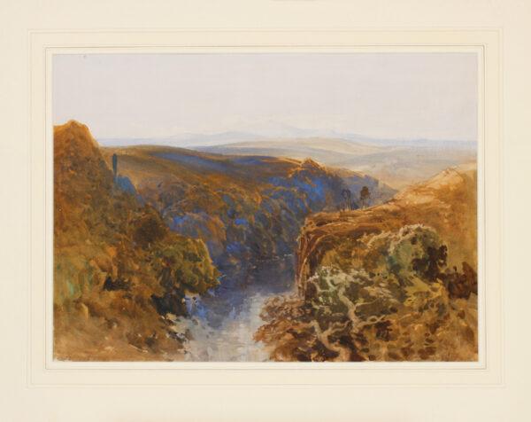 EVANS Bernard Walker R.I. (1843-1922) - Scottish river.