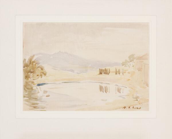 EVES Reginald G. R.A. R.O.I. (1876-1941) - An Italian landscape.