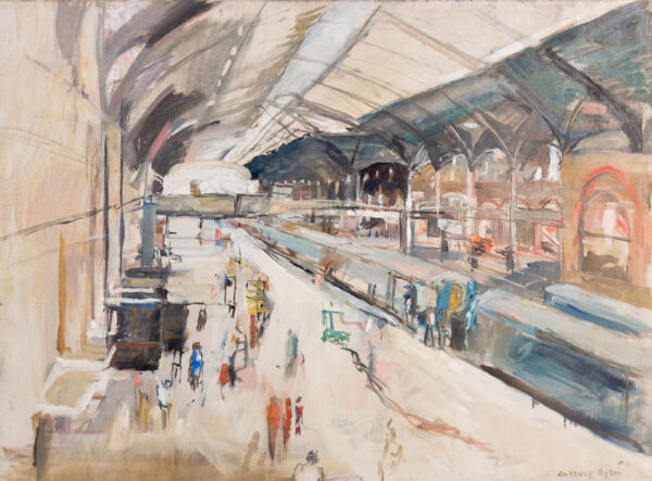 EYTON Anthony R.A. (b.1923) - Interior: Kings Cross Station.