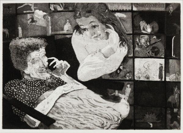 FELL Michael (b.1939) - The Couple.