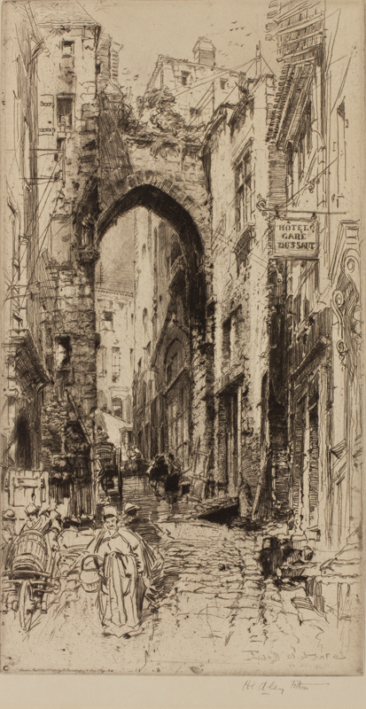 FITTON Hedley R.E. (1857-1929) - 'La Porte de la Cadenne, St Emillion'.