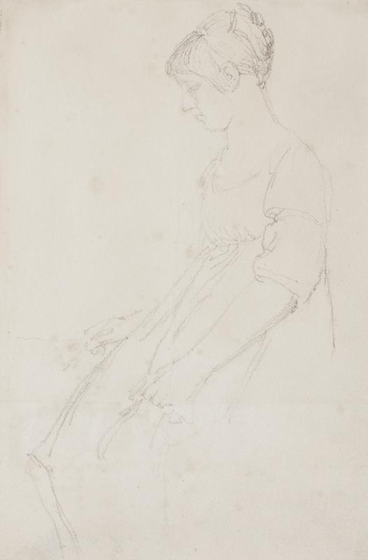 FLAXMAN John R.A. (1755-1826) - Seated girl.