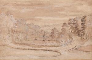 FOUQUIERE Jacques (1590-1659) Circle of. - Landscape.
