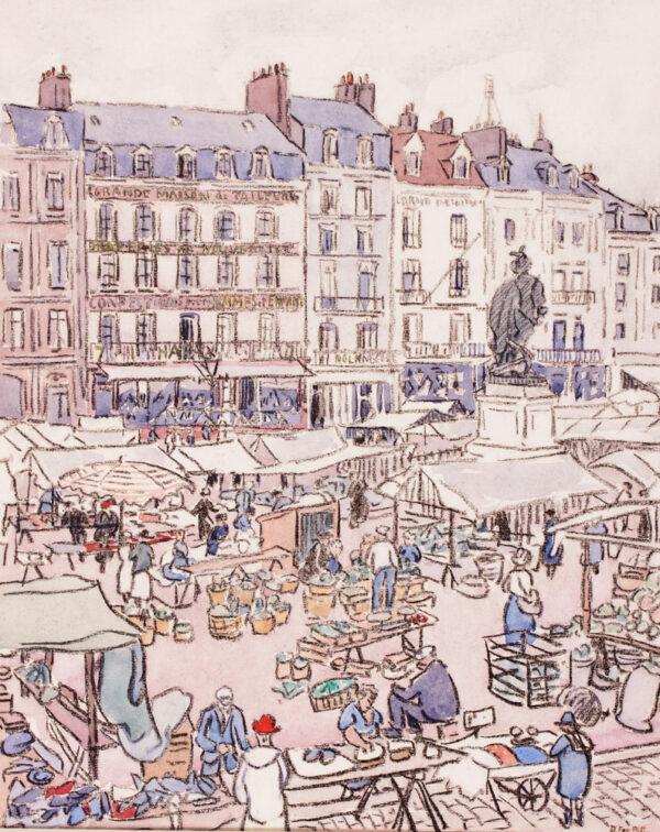FOX-PITT Douglas L.G. (1864-1922) - 'Place Nationale, Dieppe'.