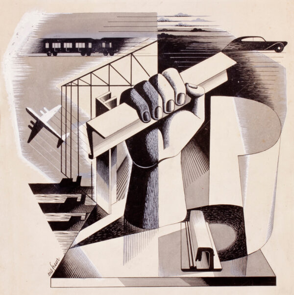 FRASER Eric (1902-1984) - 'Fear of the future'.