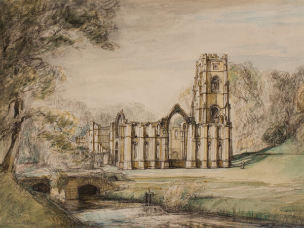 FROOD Hester (1882-1971) - 'Fountains Abbey'.