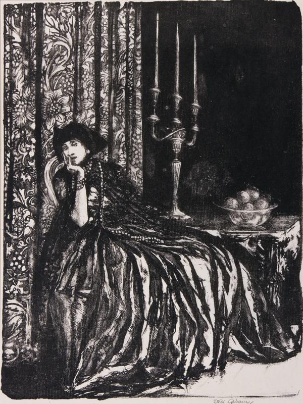 GABAIN Ethel (1883-1950) - 'Reverie Venitienne'.