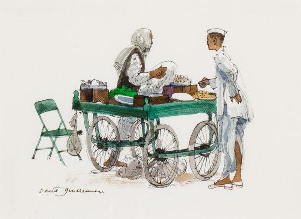 GENTLEMAN David (b.1930) - Indian street food.