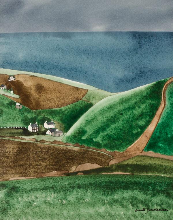 GENTLEMAN David (b.1930) - 'The Pembrokeshire Coast near Ceibwr Bay, Dyfed'.