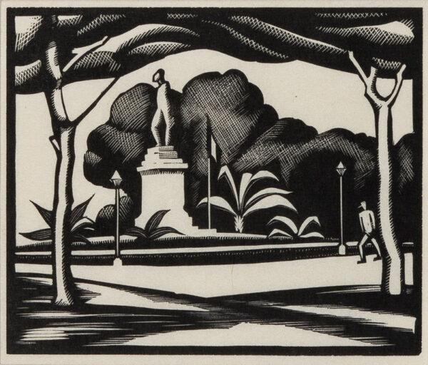 GIBBINGS Robert (1889-1958) - The Statue.