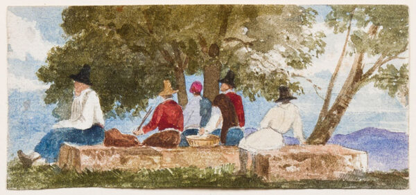 GLENNIE Arthur R.W.S. (1803-1890) - Figure studies painted in Italy in the 1840s.