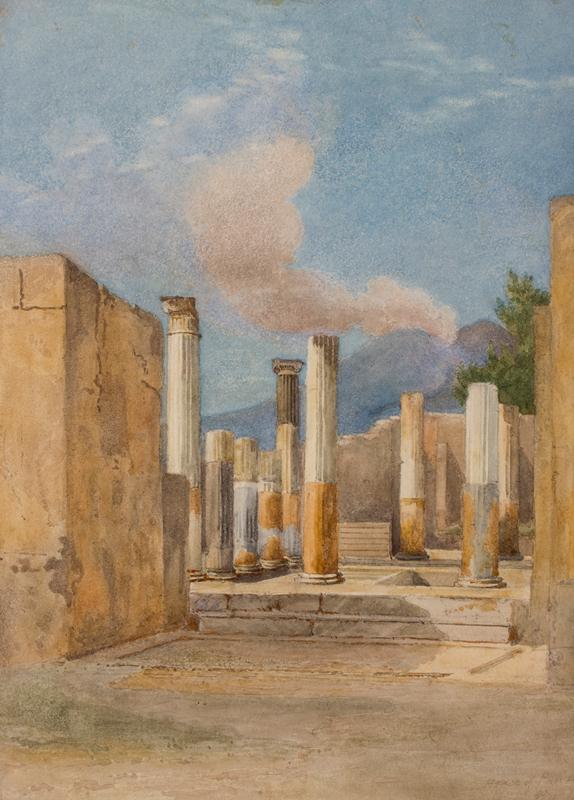 GLENNIE Arthur R.W.S. (1803-1890) - Pompeii: 'House of Pansa', via delle Terme.
