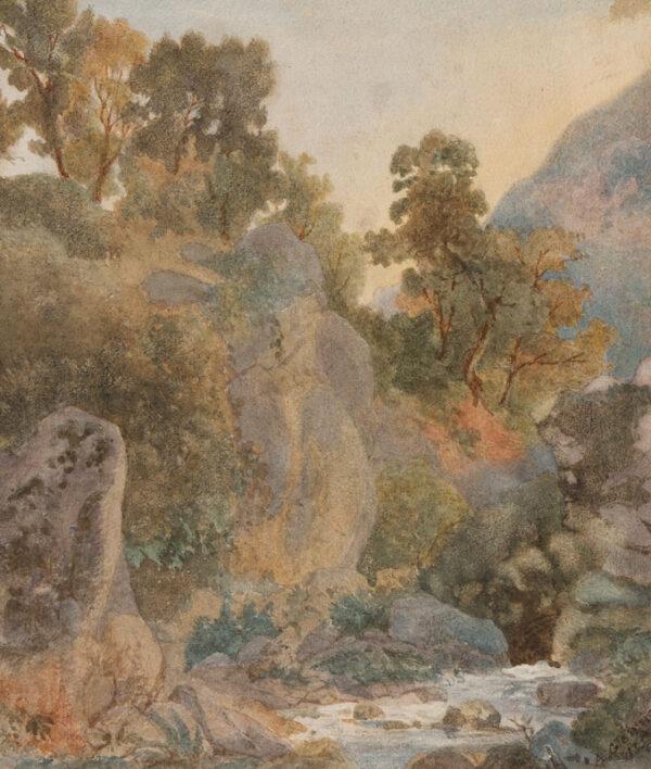 GLENNIE Arthur R.W.S. (1803-1890) - Italy.